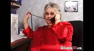 Huge Tits BBW Granny In Stockings Fucks A Youthful Dude