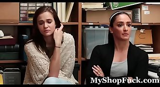 Mom &amp_ Daughter Caught &amp_ Fucked For Stealing - MyShopFuck.com