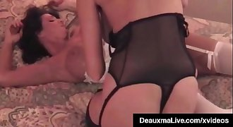 Hot Busty Cougar Deauxma Gets Strap On Fucked B...
