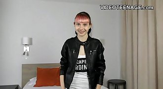 tiny 18 years old punk teen does first pornography cas...
