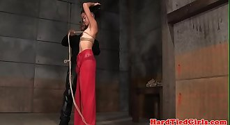 Domination & submission sub tied up by black maledom