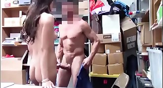ShopLyfter - Black-haired Teen Disrobe Searched &amp_ Fucked